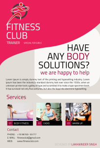 gym and fitness flyer_back